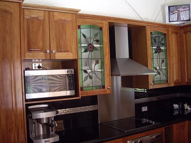 Rosewood doors with 40 mm granite benchtop.
