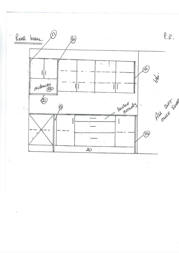 Kitchen elevations to show how much a kitchen does cost.