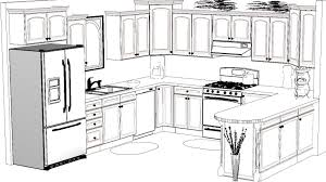 Fully installed kitchen cupboards.
